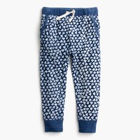 Girls' sweatpant in allover hearts
