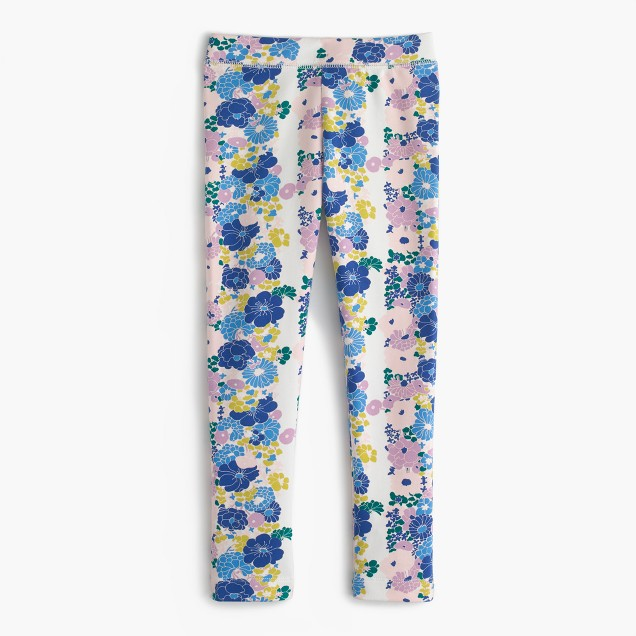 Girls' cozy everyday legging in vintage floral