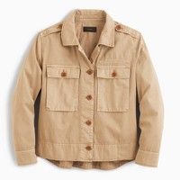 Garment-dyed safari shirt-jacket