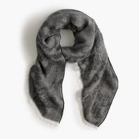 Jacquard oversized scarf