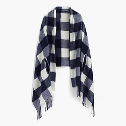Cape-scarf in oversized plaid