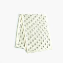 Silk polka dot scarf