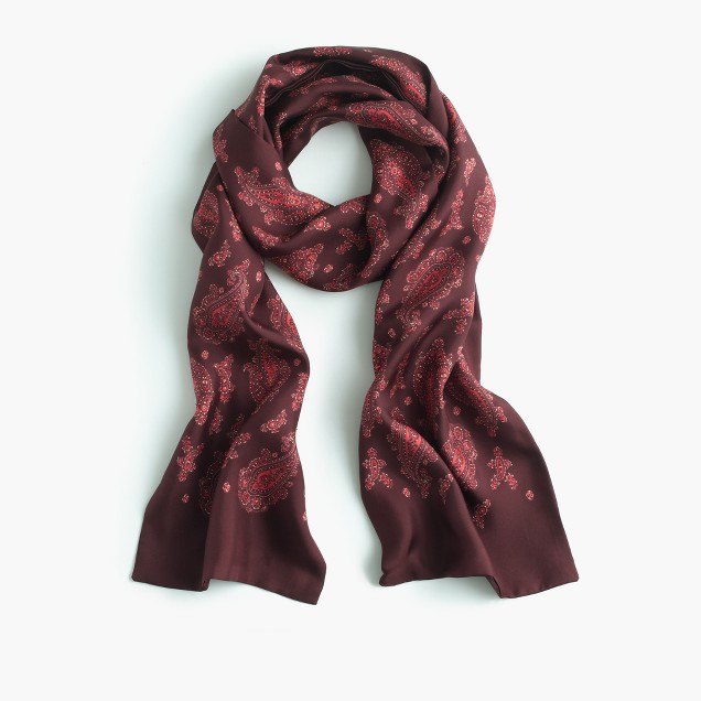 Italian silk scarf in paisley
