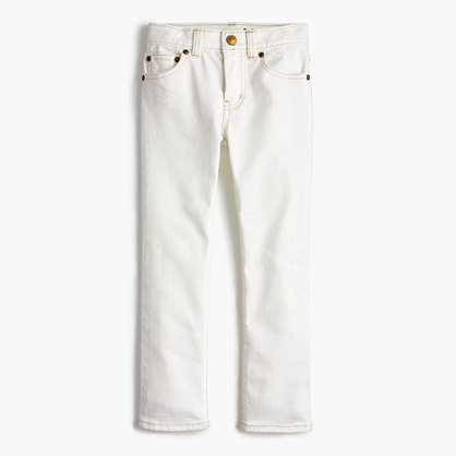 Boys' white jean in stretch skinny fit