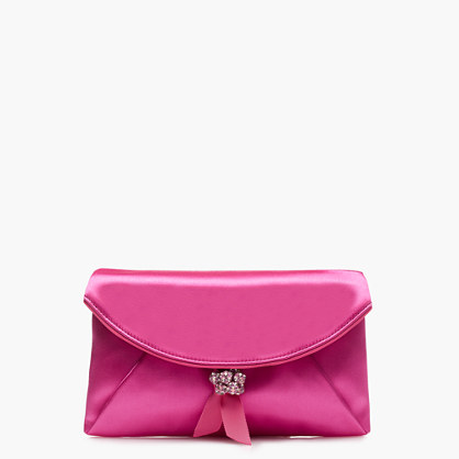Satin envelope clutch
