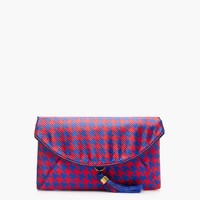 Houndstooth jacquard envelope clutch