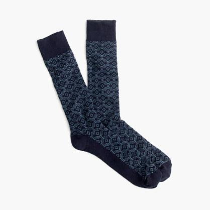 Socks in jacquard diamond