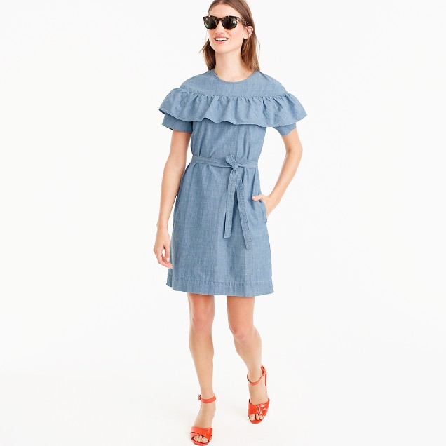 Edie dress in chambray