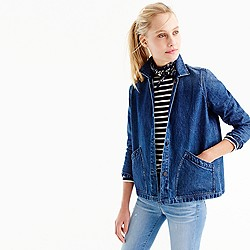Denim swing jacket in Stanmore wash