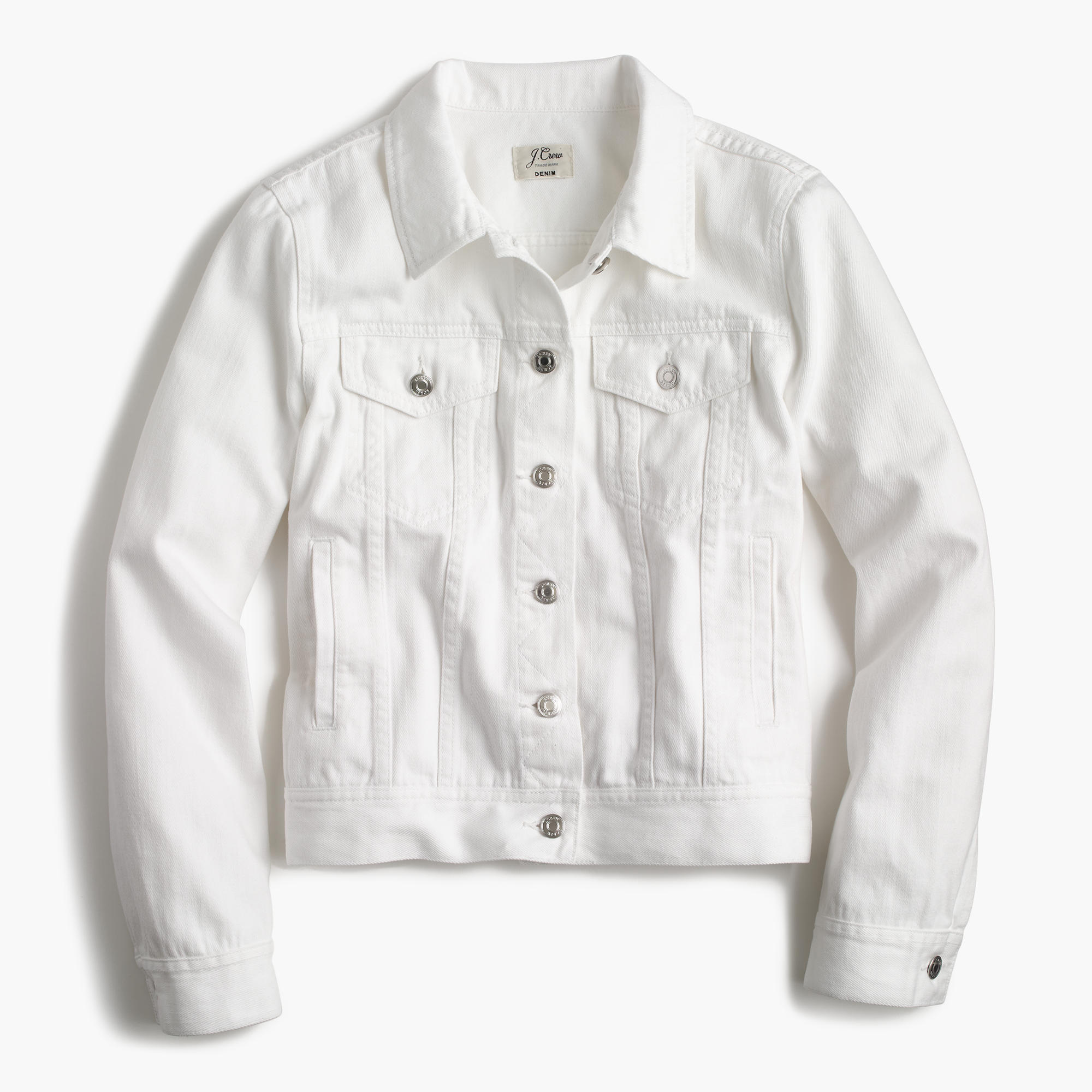 Denim jacket in white : Women denim | J.Crew