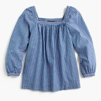 Petite Penny top in gingham