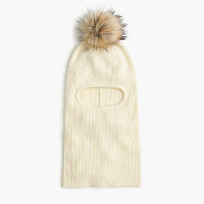 Girls' winter beanie hat with pom-pom
