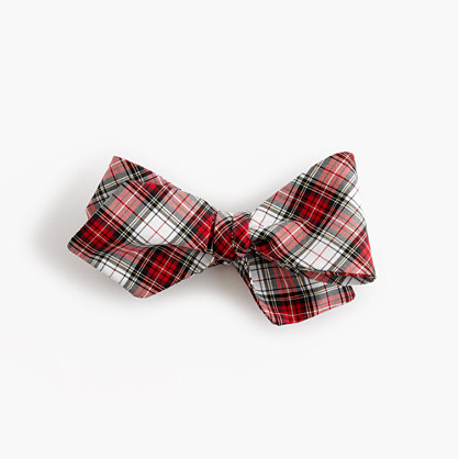 Cotton bow tie in tartan
