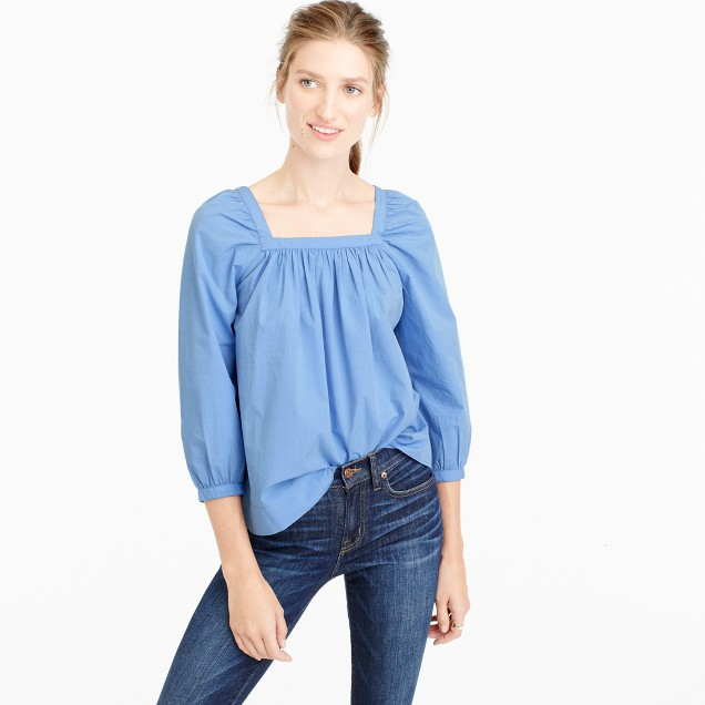 Penny top in end-on-end cotton