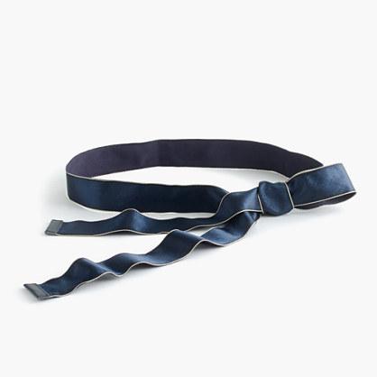 Satin ribbon belt