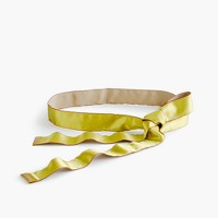 Satin ribbon belt