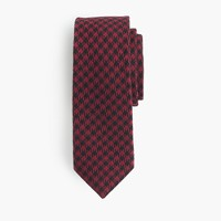 Cotton tie in houndstooth