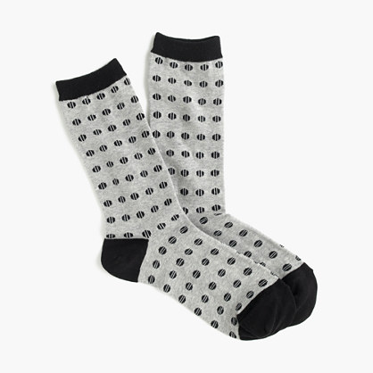 Trouser socks in croquet print