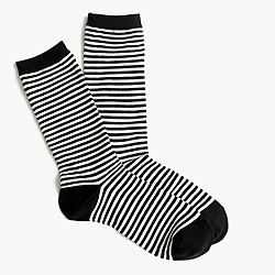 Trouser socks in classic stripe