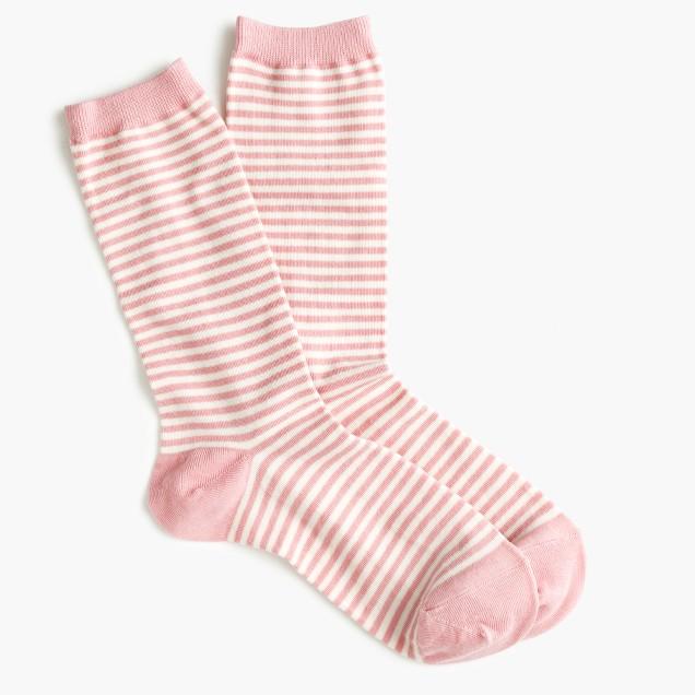 Trouser socks in classic stripe