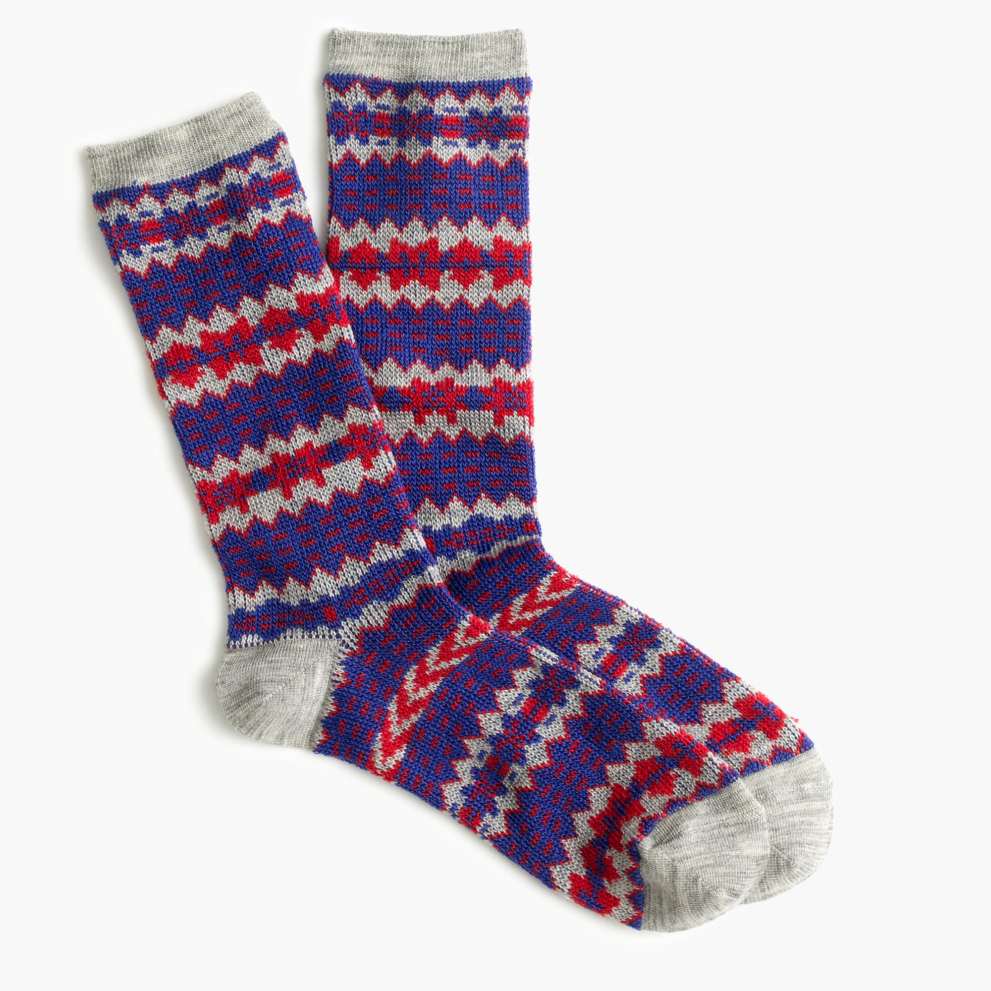 Nothing says Fall quite like a fair isle print. Hot Sox introduces a fresh spin on a classic design with these Fall essentials! The women's fair isle socks are innovative, stylish, and sure to spark a conversation. 1 pair per package.