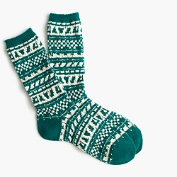 Cozy trouser socks in Fair Isle