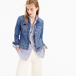 Petite denim jacket in Newton wash
