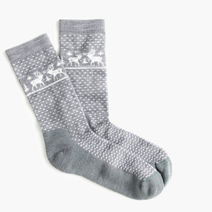 Reindeer trouser socks