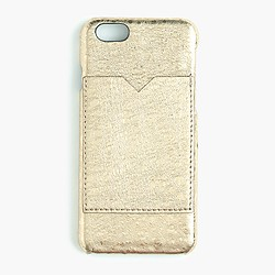 Metallic leather case for iPhone® 6 with pocket
