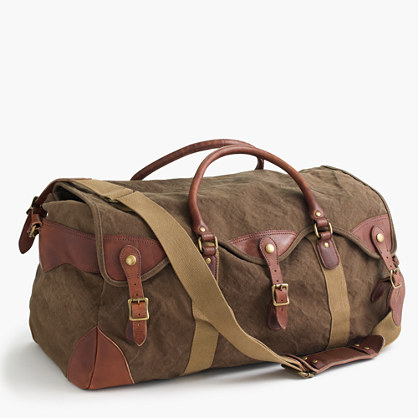 Wallace & Barnes canvas weekender bag
