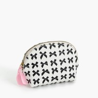 Bow-print coated canvas makeup pouch