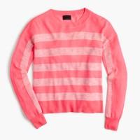 Italian featherweight cashmere striped sweater
