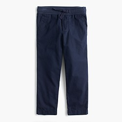 Boys' lightweight chino pull-on pant with reinforced knees