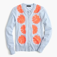 Embellished cotton Jackie cardigan sweater