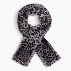 Girls' leopard faux-fur stole
