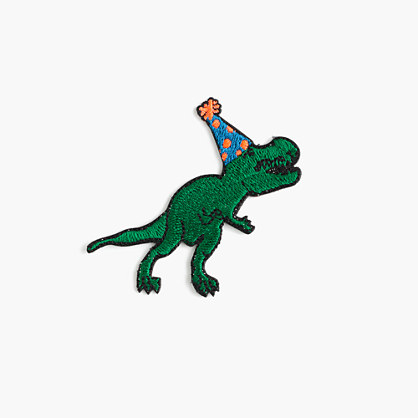 Kids' T. rex iron-on critter patch