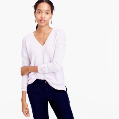 V-Neck Sweater In Cotton-Merino Wool : Women's Sweaters ...
