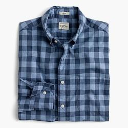 Tall Secret Wash shirt in heather poplin blue plaid