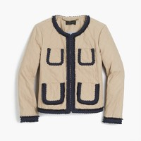 Quilted safari jacket