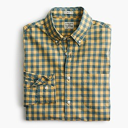 Slim Secret Wash shirt in yellow-and-blue gingham