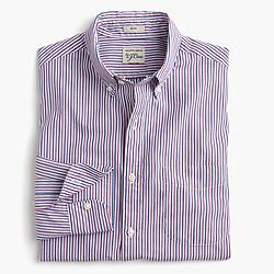 Slim Secret Wash shirt in red and blue stripes