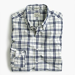 Secret Wash shirt in indigo check