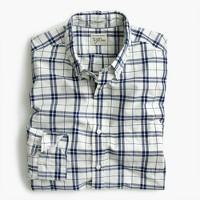 Slim Secret Wash shirt in indigo check