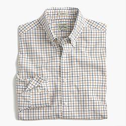 Secret Wash shirt in cider tattersall