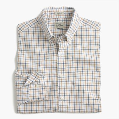 Tall Secret Wash shirt in cider tattersall