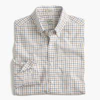 Slim Secret Wash shirt in cider tattersall