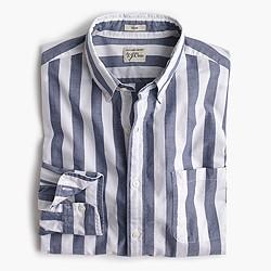 Slim Secret Wash shirt in striped heather poplin