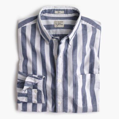 Tall Secret Wash shirt in striped heather poplin