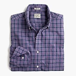 Secret Wash shirt in heather poplin purple plaid