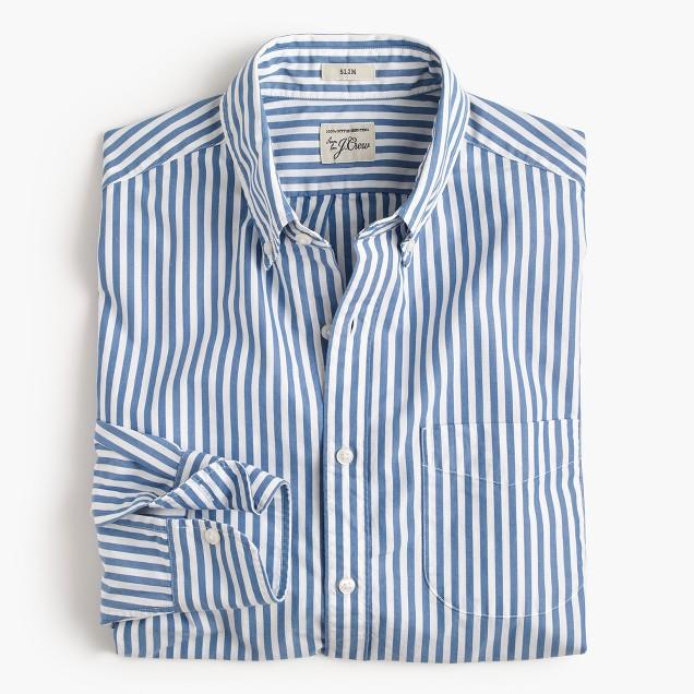 Slim Secret Wash shirt in stripe